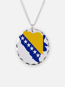 Bosnia and Herzegovina map f Necklace
