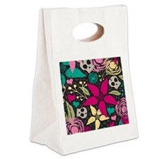Creepy floral Curtains 60 x 60 Canvas Lunch Tote