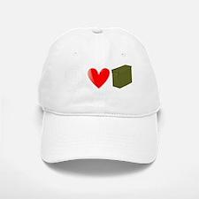 Peace, Love, and Geocaching Baseball Baseball Cap