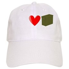 Peace, Love, and Geocaching Baseball Cap