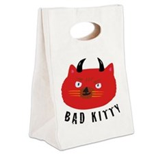Bad Kitty Canvas Lunch Tote