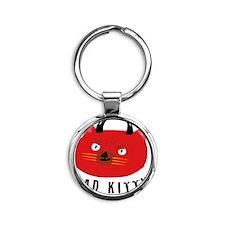 Bad Kitty Round Keychain