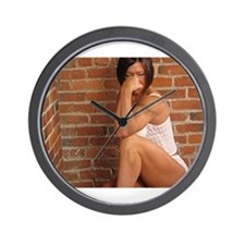 Female bodybuilder Wall Clock