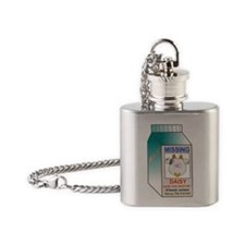 Daisy the missing cow Flask Necklace