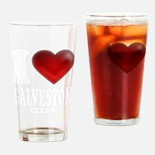 I Heart Galveston, Texas Drinking Glass