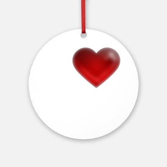 I Heart Galveston, Texas Round Ornament