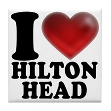 I Heart Hilton Head Tile Coaster