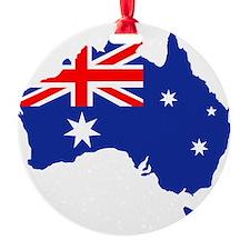 Australia map flag Round Ornament