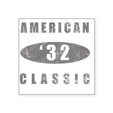 "1932 Birthday Classic Square Sticker 3"" x 3"""