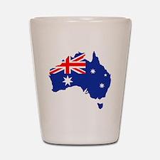 Australia map flag Shot Glass