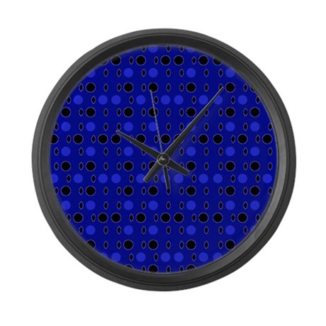 Blue Black Comeback Designer Large Wall Clock by Admin