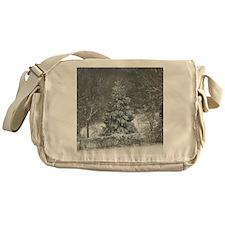 Winter shower curtain Messenger Bag