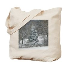 Winter shower curtain Tote Bag