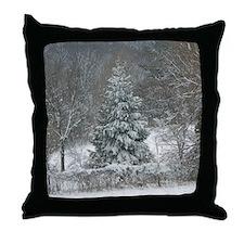 Winter shower curtain Throw Pillow