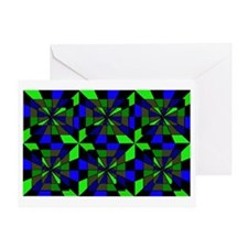 Greens , blues , and noir combined t Greeting Card