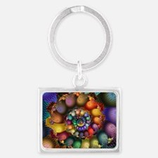 Textured Spiral for Cards Landscape Keychain