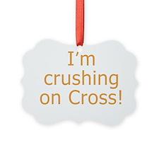 Crushing on Cross Ornament