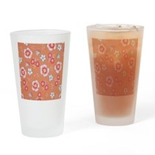 orange flowers Drinking Glass