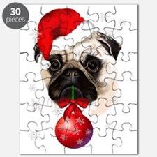 A Very Merry Christmas Pug Puzzle