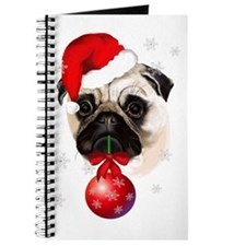 A Very Merry Christmas Pug Journal