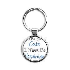 Im So Cute Ukrainian Round Keychain