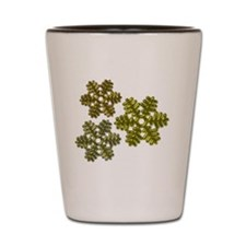 Snowflakes Metallic 3D Design Shot Glass