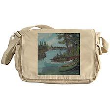 Canoe shower curtain Messenger Bag