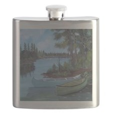 Canoe shower curtain Flask
