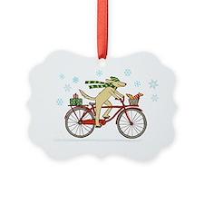 dogsquirrelholidayCP Ornament