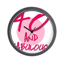 40 And Fabulous Wall Clock