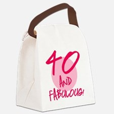 40 And Fabulous Canvas Lunch Bag