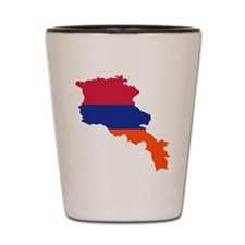 Armenia map flag Shot Glass