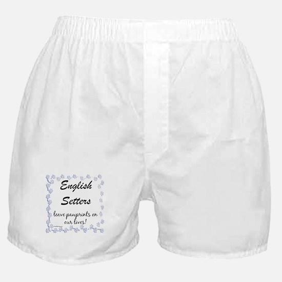 English Setter Pawprint Boxer Shorts