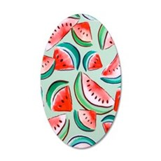 watermelons 35x21 Oval Wall Decal