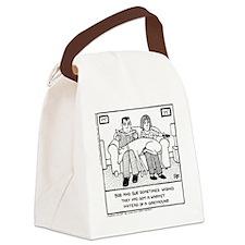 Lap Dog Canvas Lunch Bag