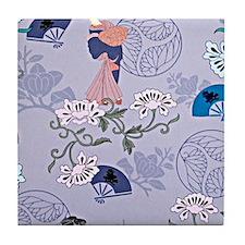 japanese ladies Tile Coaster
