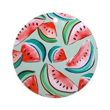 watermelons Round Ornament