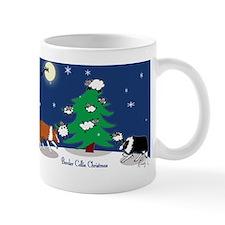 border collie christmas post card Mug
