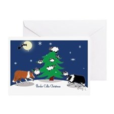 border collie christmas post card Greeting Card