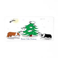 border collie clear Christm Aluminum License Plate