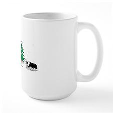 border collie clear Christmas Mug