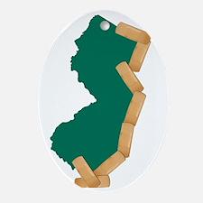 NJ Heal Oval Ornament