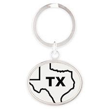 TX - Texas Oval Keychain