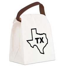 TX - Texas Canvas Lunch Bag