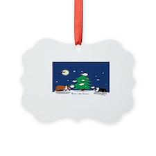 border collie christmas caledar Ornament