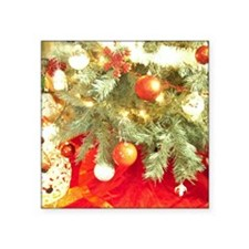 "Christmas J2 Square Sticker 3"" x 3"""