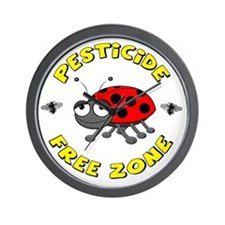 Pesticide Free Zone Wall Clock