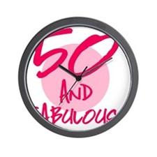 50 And Fabulous Wall Clock