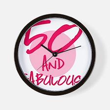50 And Fabulous Wall Clock
