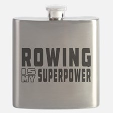 Rowing Is My Superpower Flask